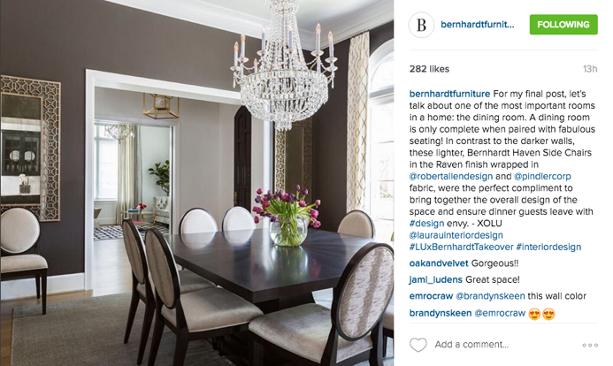 Bernhardt Furniture Instagram Takeover