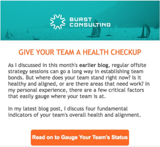 Burst Consulting After E-mail