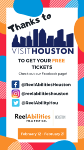On example of ReelAbilities's takeover of Visit Houston's social media