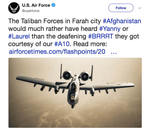 Air force tweet